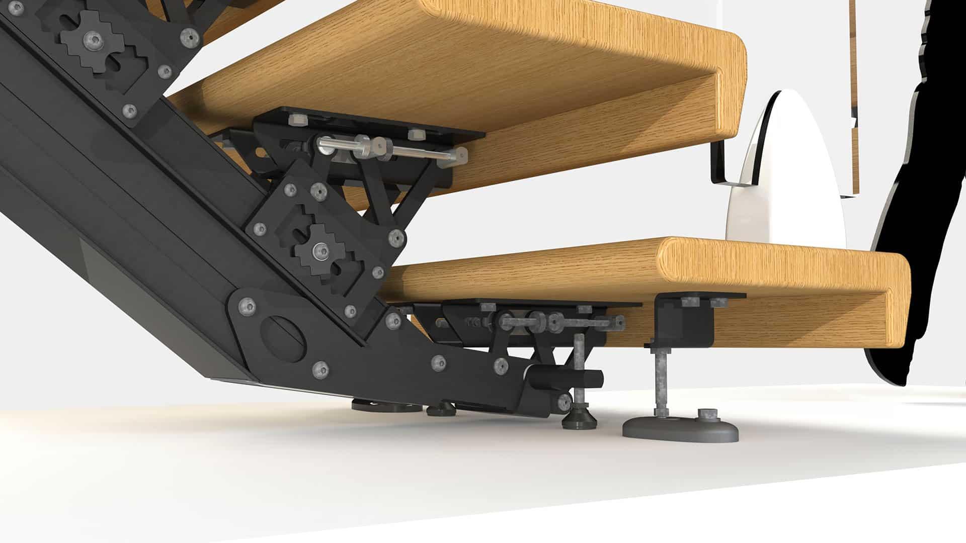 Modulaire snelbouwtrap 3D visualisatie BC design