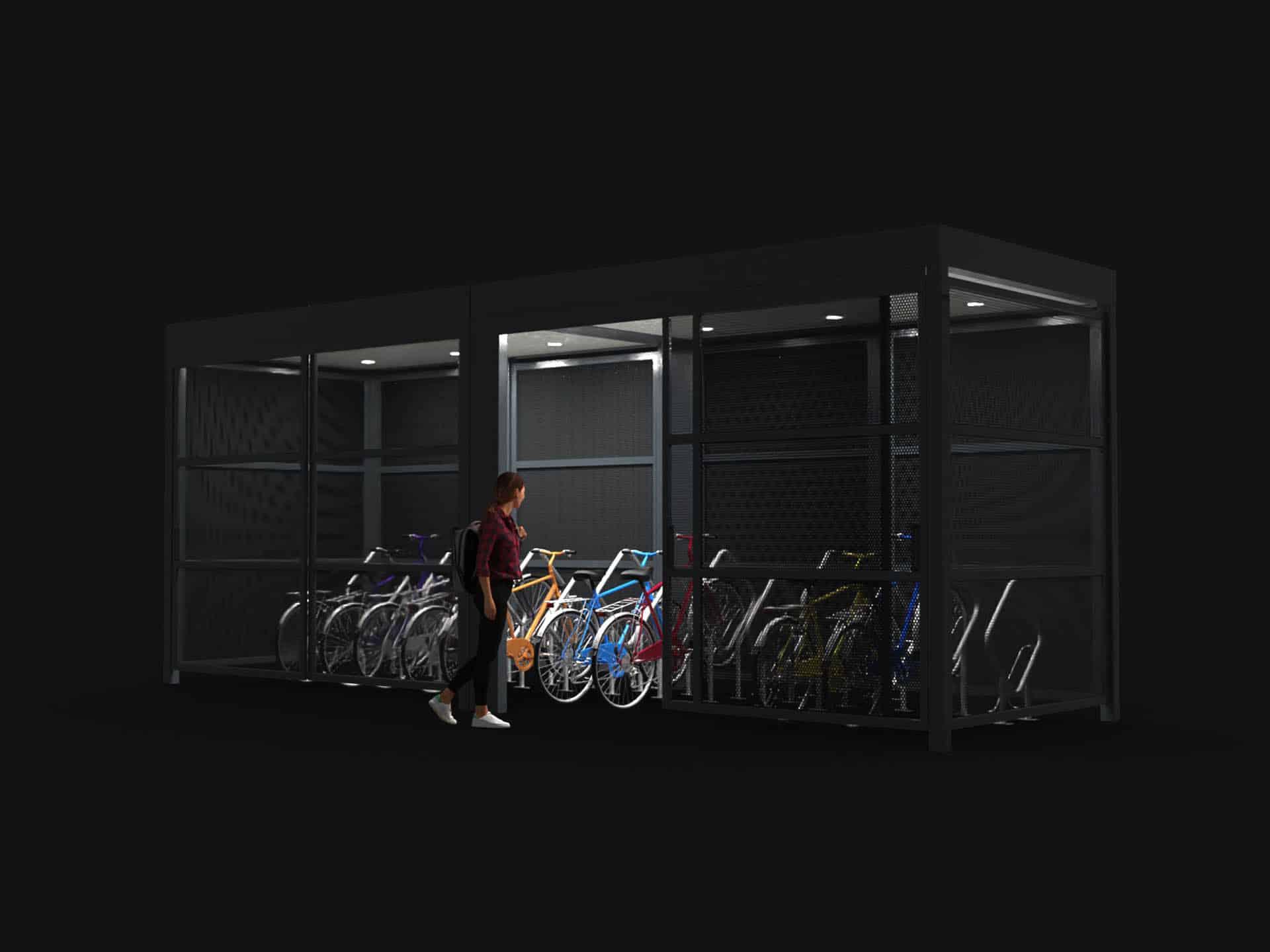 BC design: 3D visualisatie fietsstalling straatmeubilair